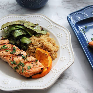 Grilled Orange Herb Salmon.