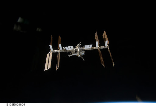 ISS Flyaround views from STS-128
