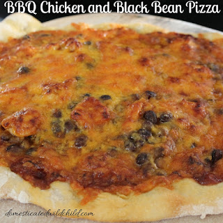 BBQ Chicken and Black Bean Pizza.