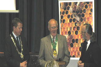 Photo: President Bill Turnbull and Hugh Keery Chairman Mid Antrim BKA welcomes all the geusts on behalf of Mid Antrim BKA, looked on by Chairman INIB Michael Young.