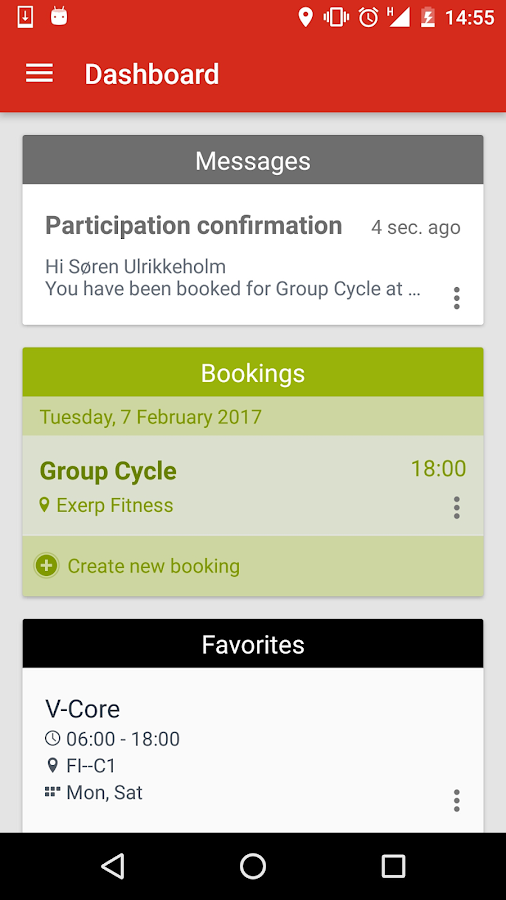 fitness pod- screenshot