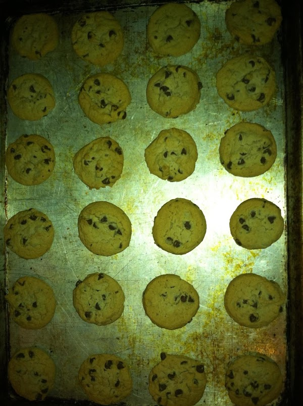 Bake at 375 degrees for 10 - 12 minutes.  Cookie edges should be...