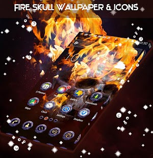 Fire Skull Wallpaper & Icons - náhled