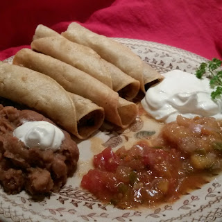 Venison (or Beef) Steak and Chorizo Taquitos