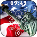 USA Flag Lock Screen & Keyboard Themes icon