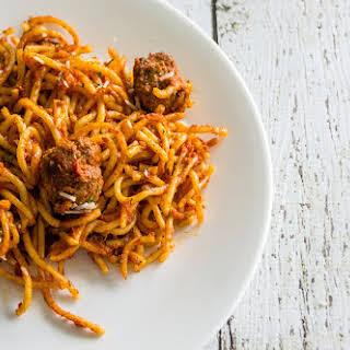 Homemade Spaghetti & Meatballs.