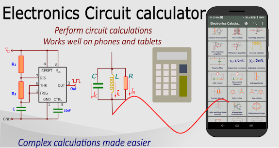 Electronics circuit calculator-Electronics toolkit App Download for Android 1