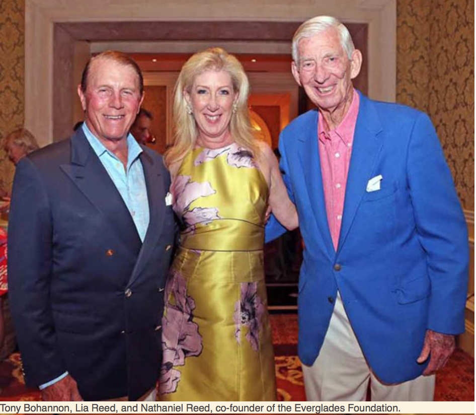 Karen Klopp, Hilary Dick article for New York Social Diary, What to Wear Everglades foundation party at thme breakers Tony Bohannon, Lia Reed ,Nathaniel Reed
