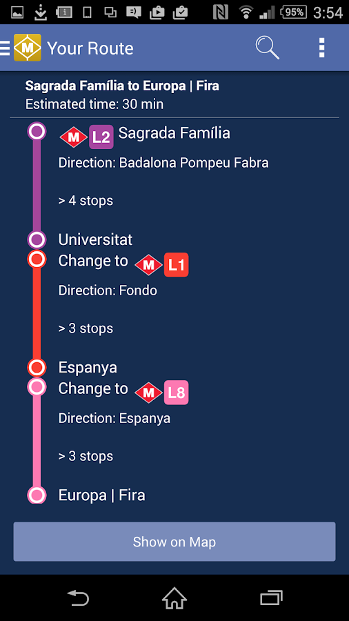 Route Plan Barcelona Metro Map- screenshot