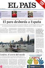 Photo: El paro en España supera el máximo histórico, Londres se convierte en el centro del mundo con la inauguración de los Juegos Olímpicos y la ruptura de negociaciones de los derechos de televisión deja en el aire la Liga, en la portada de la edición nacional del sábado 28 de julio de 2012 http://srv00.epimg.net/pdf/elpais/1aPagina/2012/07/ep-20120728.pdf