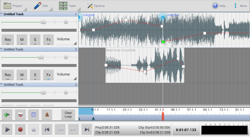 MixPad Multitrack Mixer Free 5.36 screenshots 1