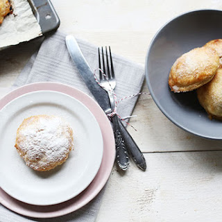 Oven Baked Puff Pastry Apple Beignets.