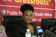 Public protector Busisiwe Mkhwebane delivers a report on July 19 2019 on allegations that President Cyril Ramaphosa misled parliament about a Bosasa donation to his campaign.