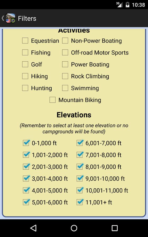 Ultimate US Public Campgrounds- screenshot
