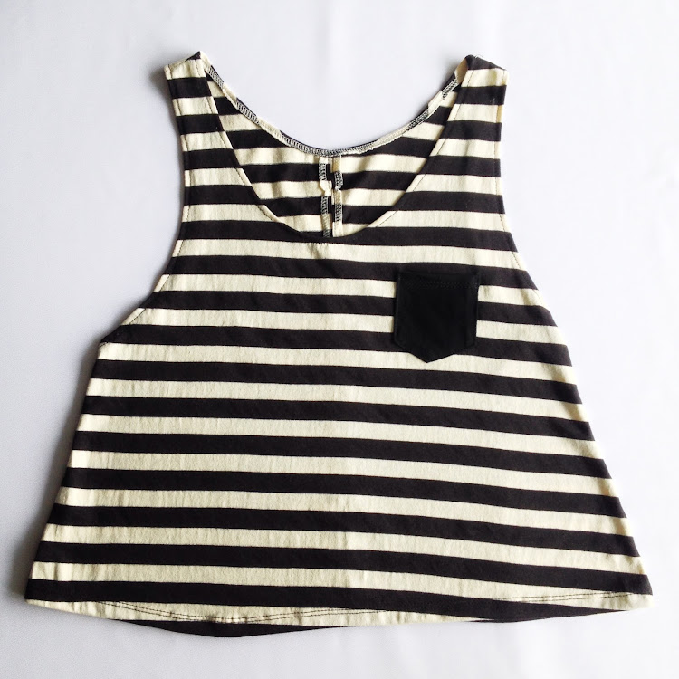 BlackxWhite Striped Crop Top by The Stripe Club