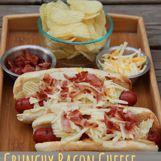 Crunchy Bacon Cheese Hot Dogs.