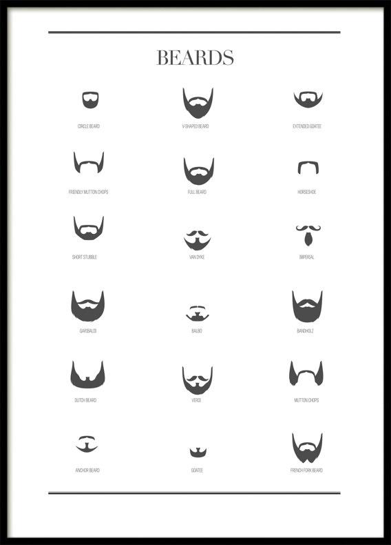 Beards, Poster