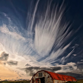 Adagio by Þorsteinn H. Ingibergsson - Landscapes Cloud Formations ( clouds, iceland, sky, nature, structor, abandonad, landscape )