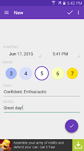 Mood Log- screenshot thumbnail