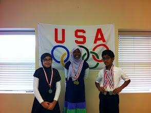 Photo: Volleyball Yasmina (G) Aila (S) Fawaz (B)