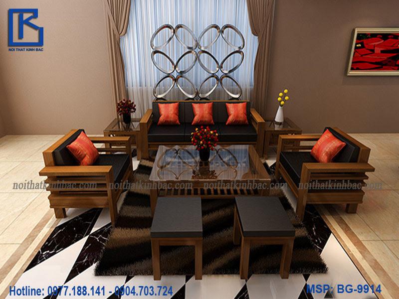 Mẫu bàn ghế gỗ phòng khách đẹp BG-9914