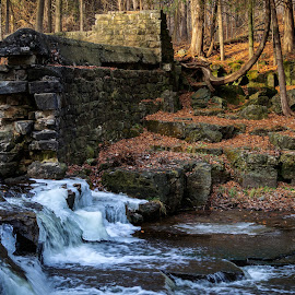 Abandoned Dam by Kathy Suttles - Buildings & Architecture Decaying & Abandoned
