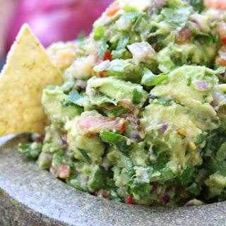 Simple Healthy Guacamole.