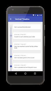Timeline View Sample - náhled