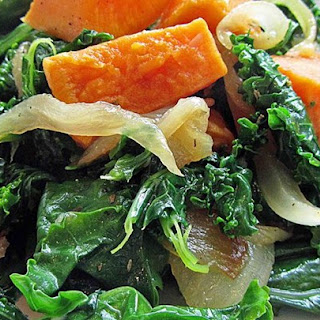 Roasted Yam and Kale Salad
