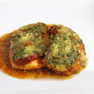 Skinny Baked Pesto Chicken (4 ingredients).
