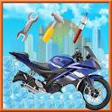 Motorcycle wash salon & repair icon