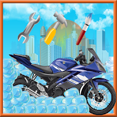 Motorcycle wash salon & repair