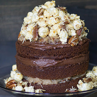 German Chocolate Caramel Corn Cake