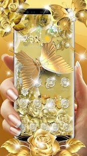 Golden Butterfly  Luxury Launcher Screenshot