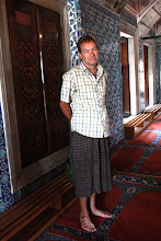 Photo: Day 115 -  Rog in His Skirt in Rustem Pasa Mosque