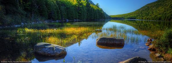 Photo: Bubble pond. Picture by Greg Hartford copyright 2014 www.acadiamagic.com.