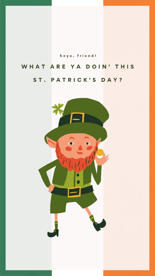 Leprechaun Friend - St. Patrick's Day Template