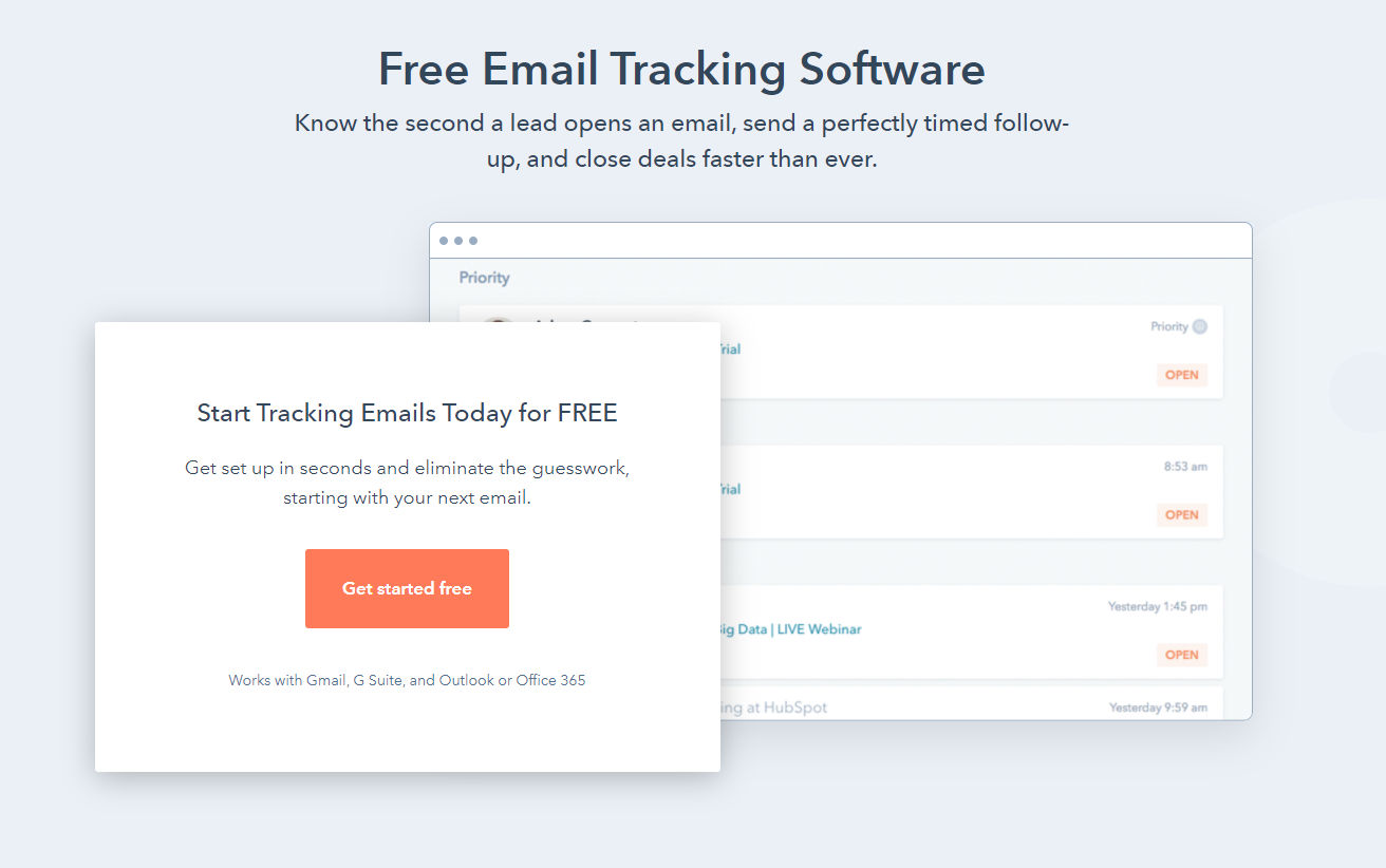 HubSpot email tracking software