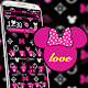 Pink love graffiti mouse theme