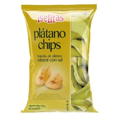 Snack Iselitas Platanitos Regular Con Sal 300Gr