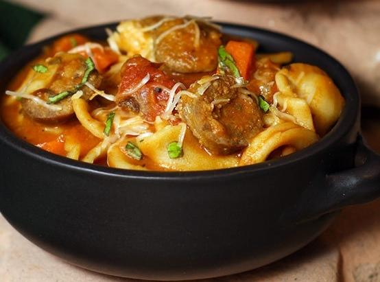 30 Minute Hearty Italian Basil Sausage Soup Recipe