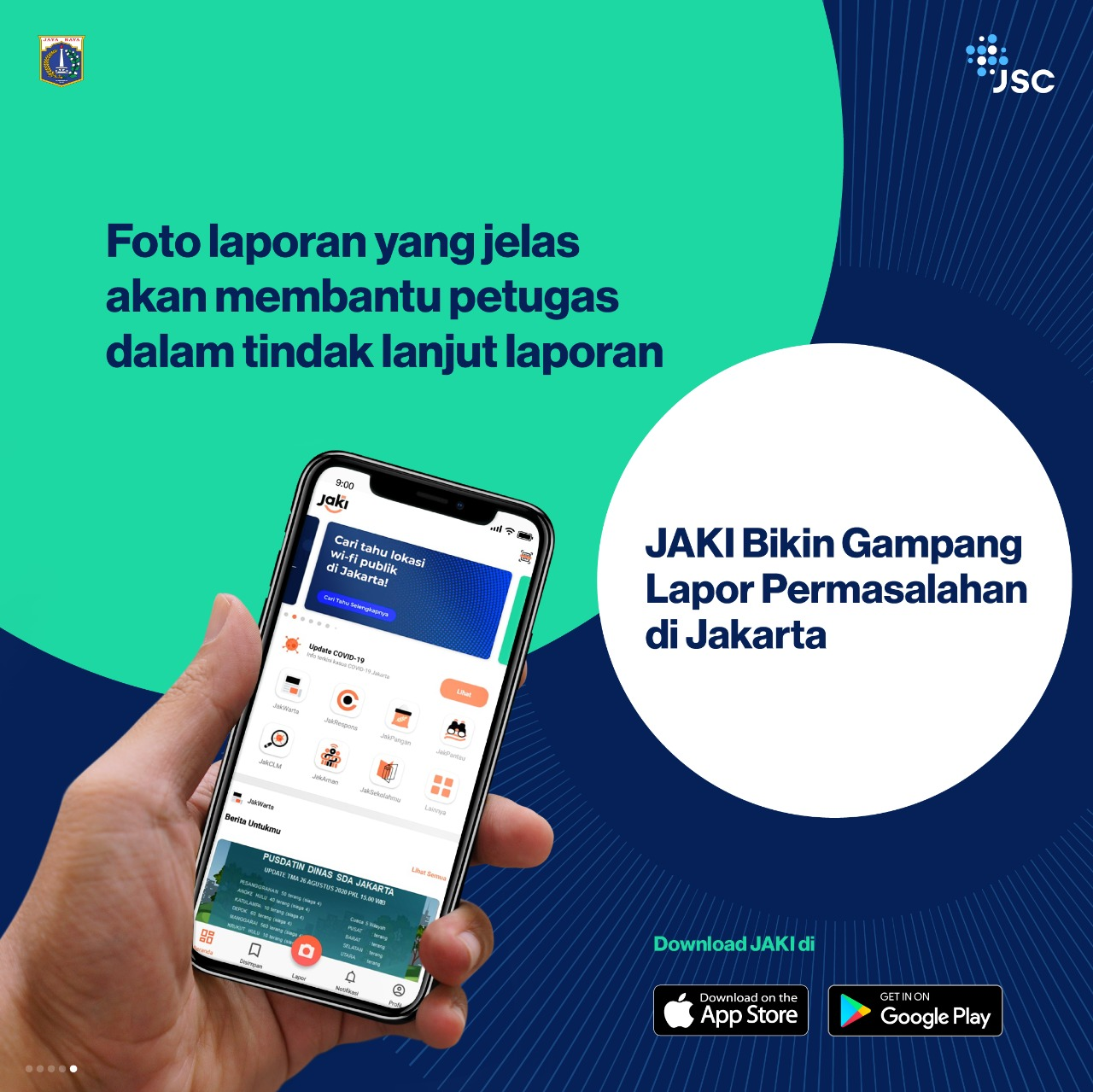 JAKI, JakLapor, PSBB, Jakarta, CRM
