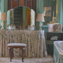 Old Fashioned Bathroom by Lorraine D.  Heaney - Buildings & Architecture Architectural Detail