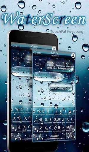 3D Blue Water Screen Droplets Keyboard Theme 6.2.22.2019 app download 1