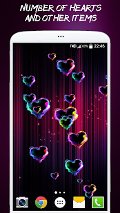 Magic Hearts Live Wallpaper - náhled