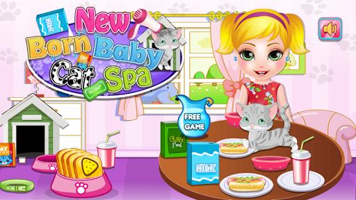 New Born Baby Cat Spa
