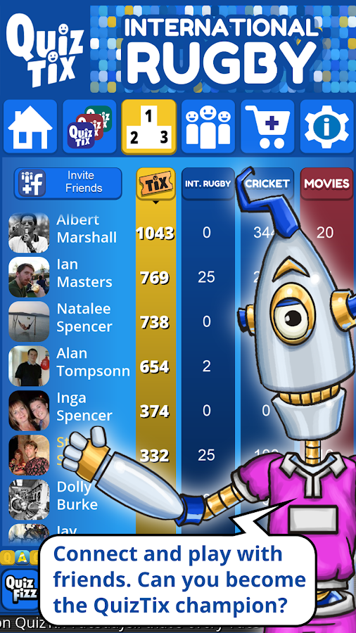 QuizTix: Int'l Rugby Quiz- screenshot