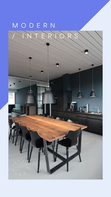 Modern Interiors Available - Facebook Story template