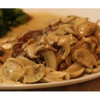 Filet Mignon With Mushroom Sauce.