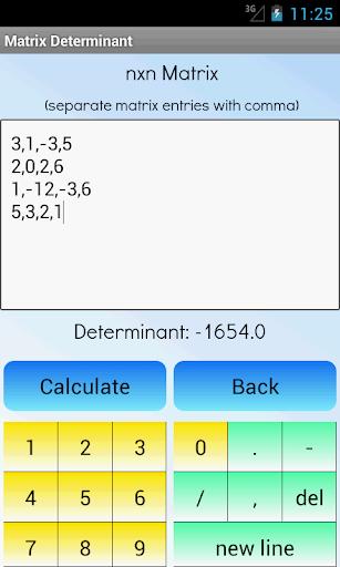 Matrix Determinant Calculator App Report on Mobile Action ... on